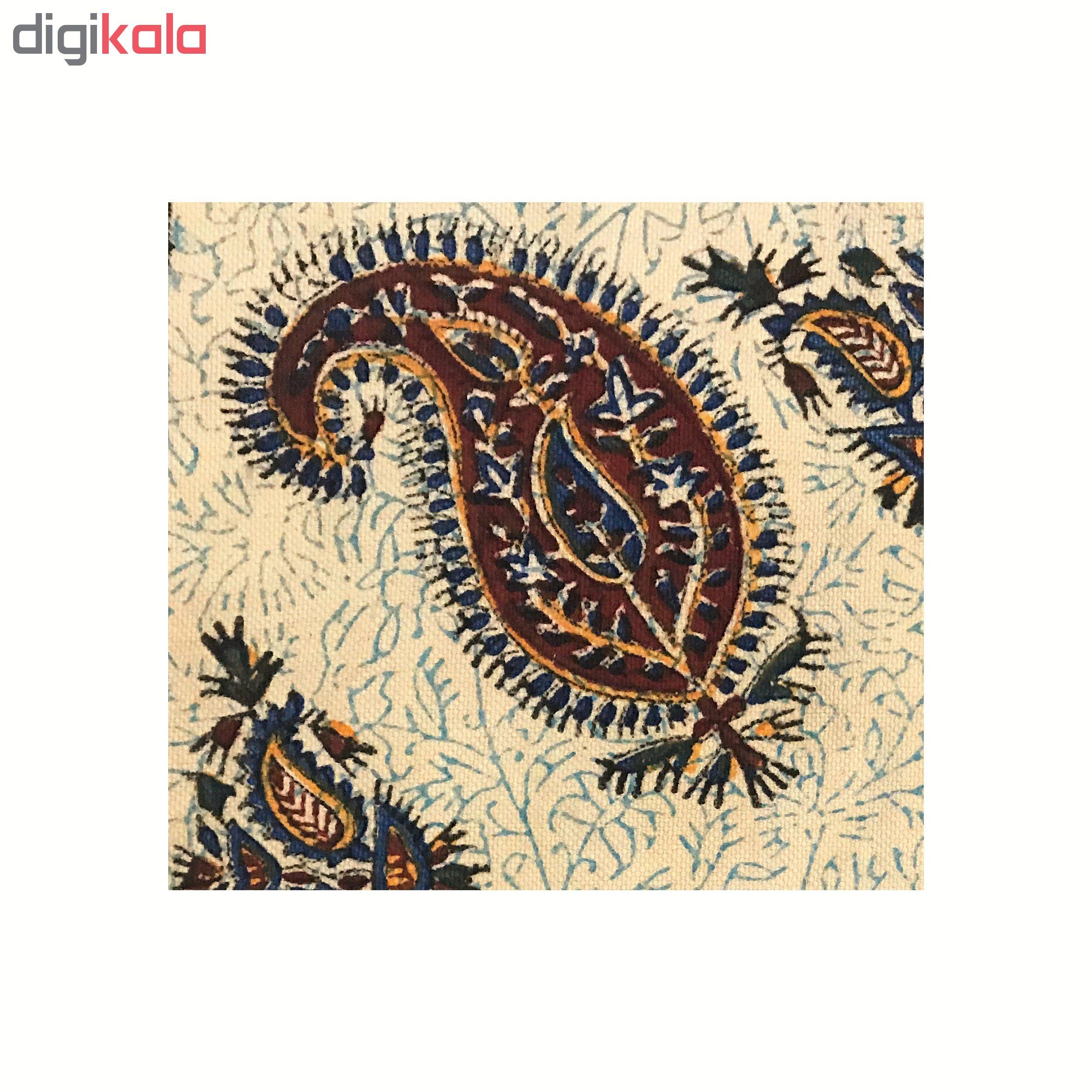 خرید                      رومیزی قلمکار ممتاز اصفهان اثر عطريان طرح ترنج مدل G88سایز 40*40 سانتی متر