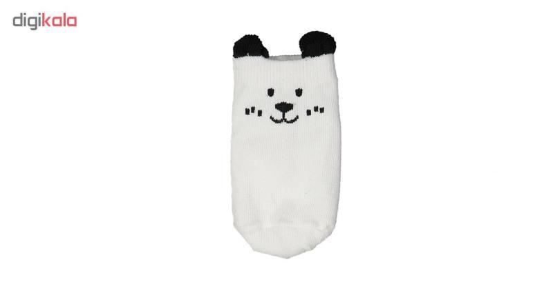 جوراب نوزادی مدل mini dog مجموعه 4 عددی