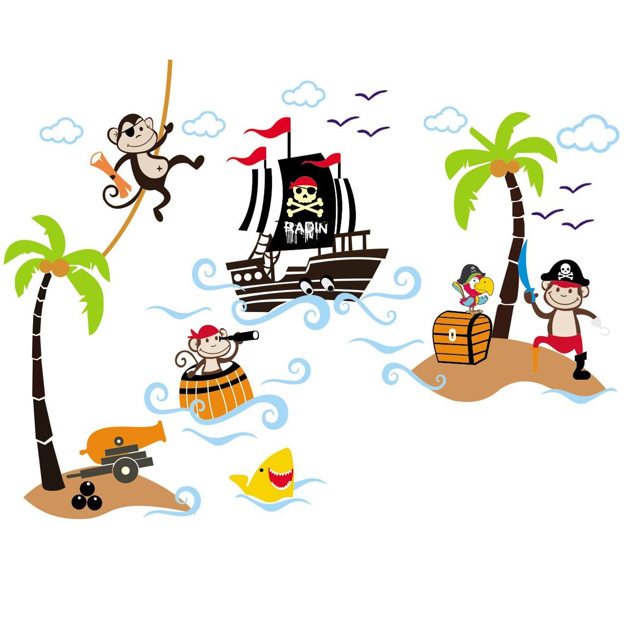استیکر چوبی جیک جیک مدل دزدان دریایی