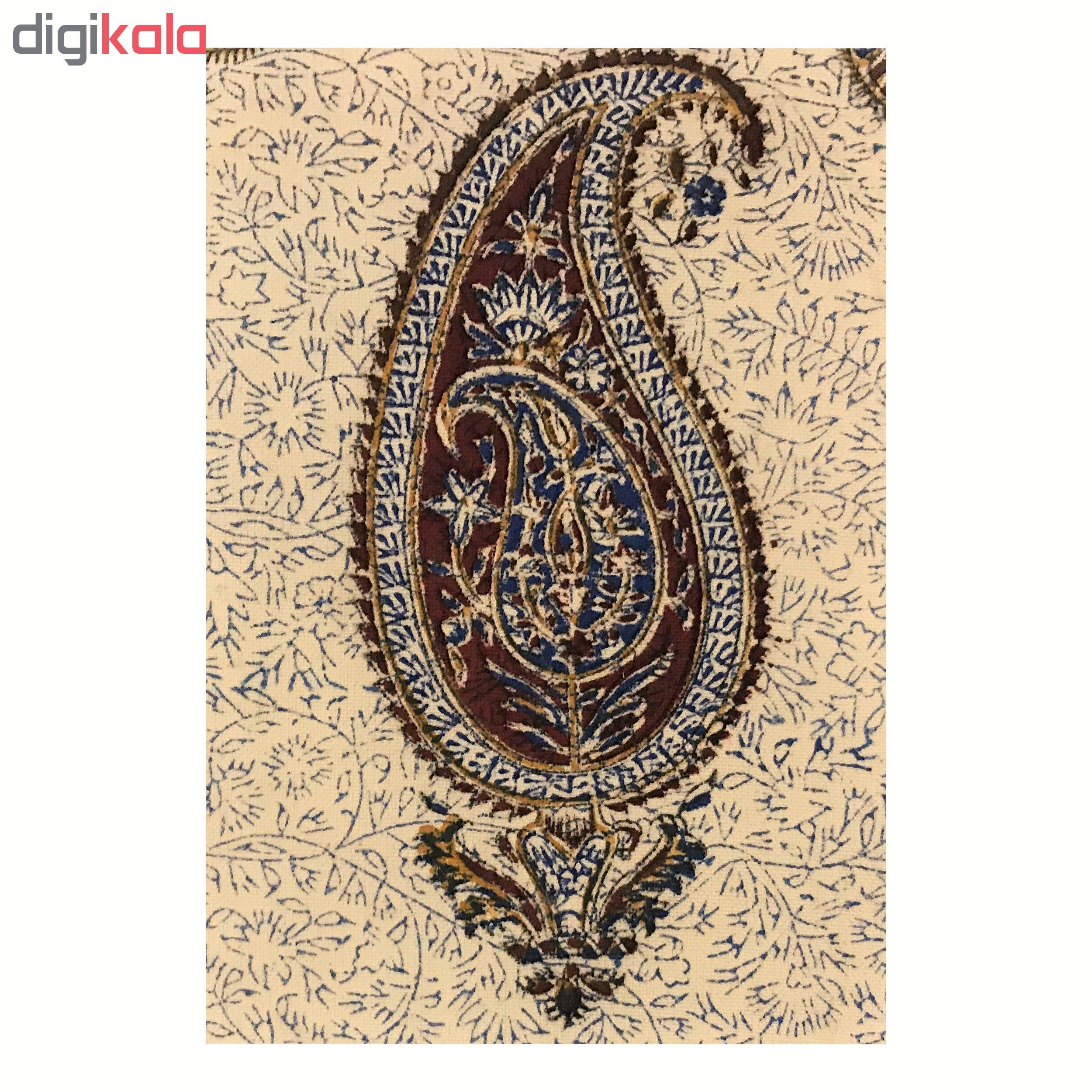 رومیزی قلمکار ممتاز اصفهان اثر عطريان طرح تک بته مدل G79 سایز 30*50 سانتی متر