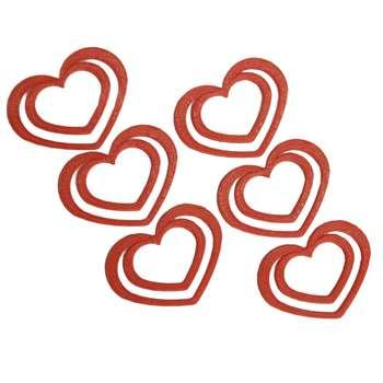 نشانگر کتاب طرح قلبی مدل pla5 بسته 6 عددی