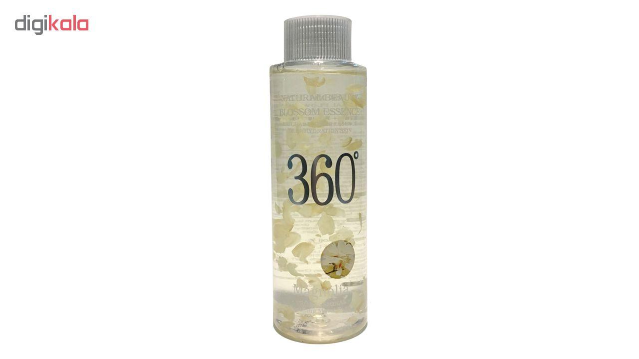 تونر پاک کننده آرایش صورت 360 مدل Honey حجم 300 میلی لیتر