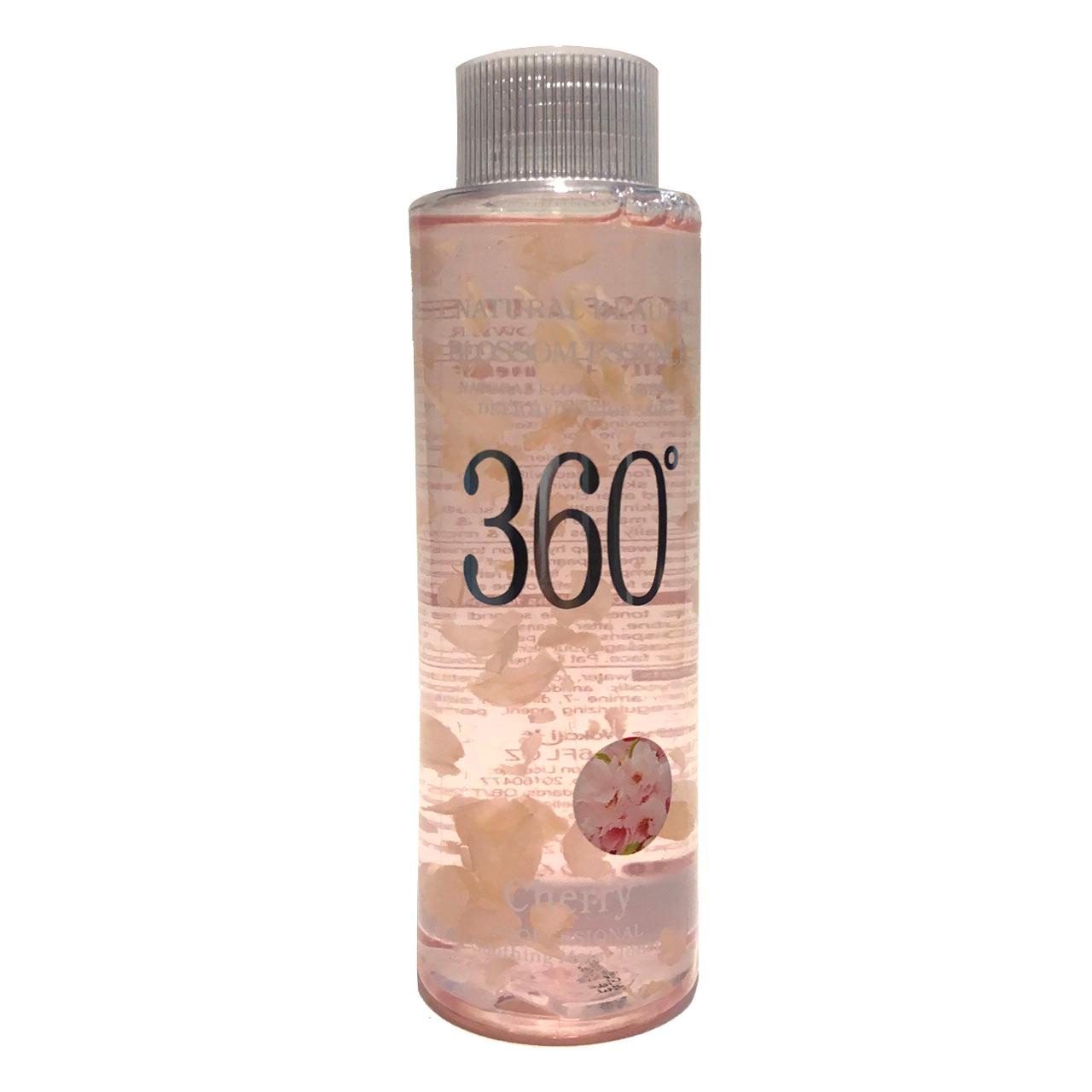 تونر پاک کننده آرایش صورت 360 مدل Flower حجم 300 میلی لیتر