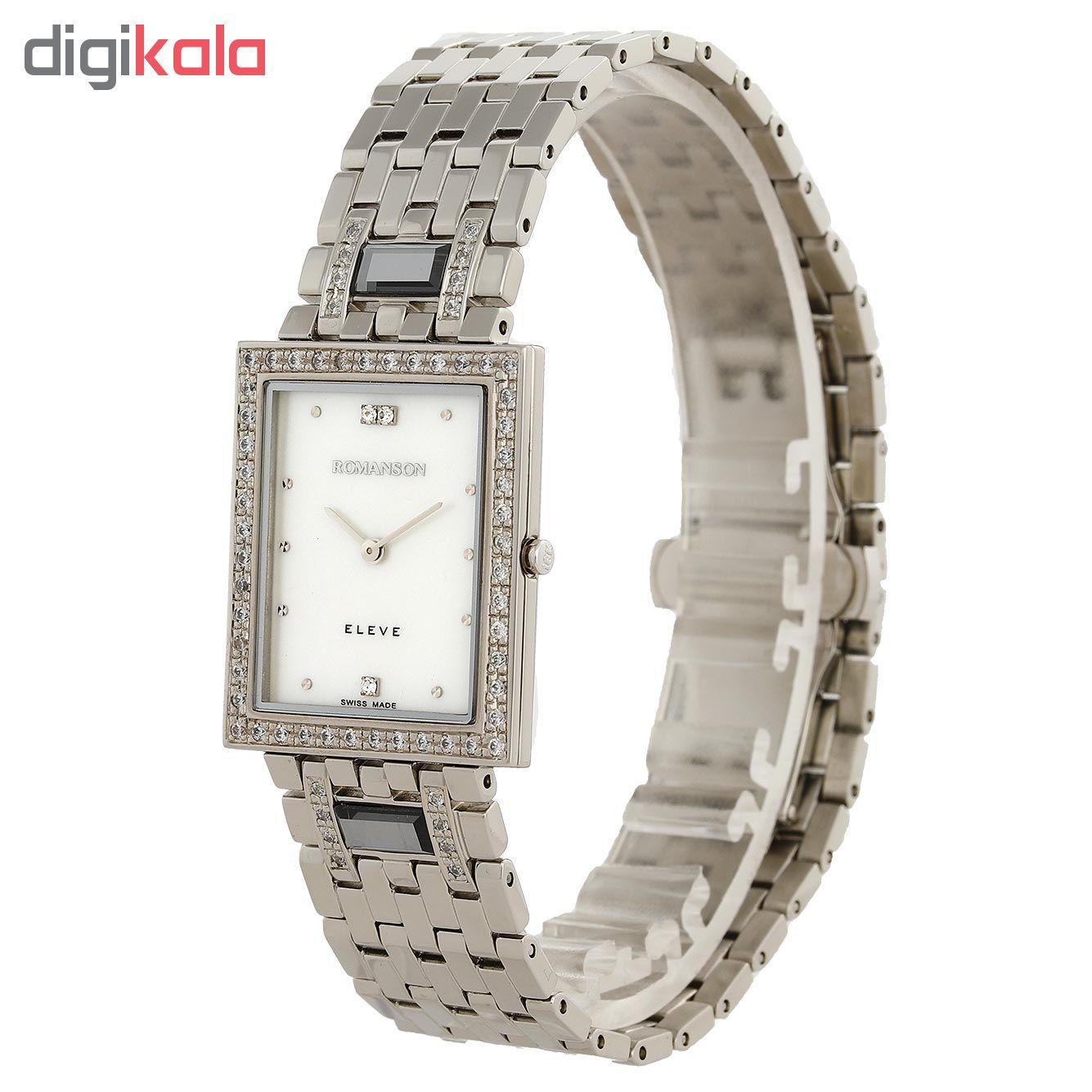کد تخفیف                                      ساعت مچی عقربه ای مردانه رومانسون مدل EM0208QM1WM12W