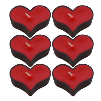 شمع وارمر طرح قلب 002 بسته 6 عددی