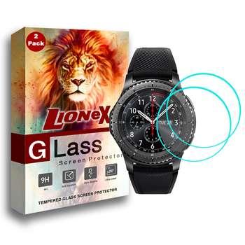 محافظ صفحه نمایش لایونکس مدل UPS مناسب برای ساعت هوشمند سامسونگ Gear S3 بسته دو عددی