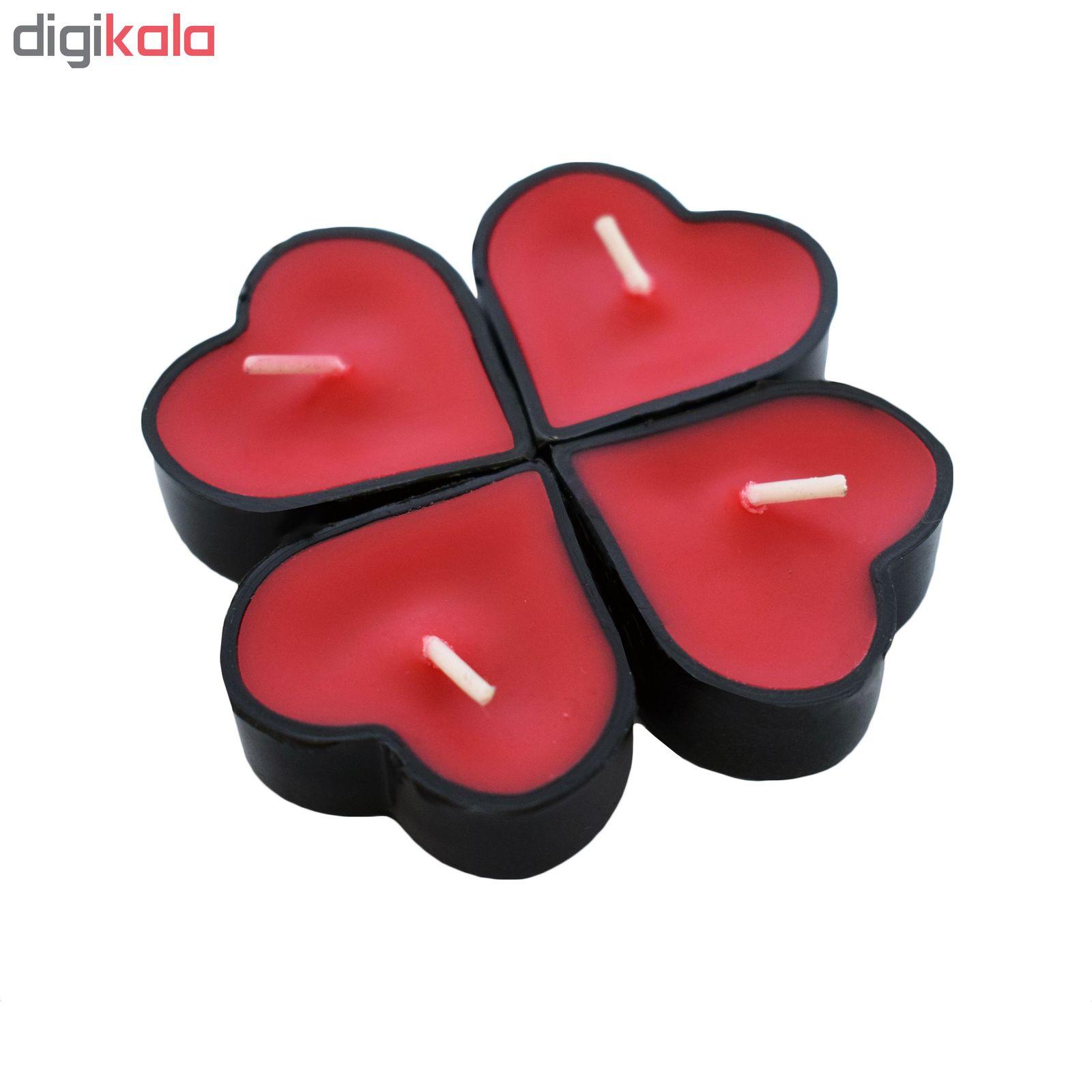شمع وارمر مدل قلب 001 بسته 6 عددی main 1 1