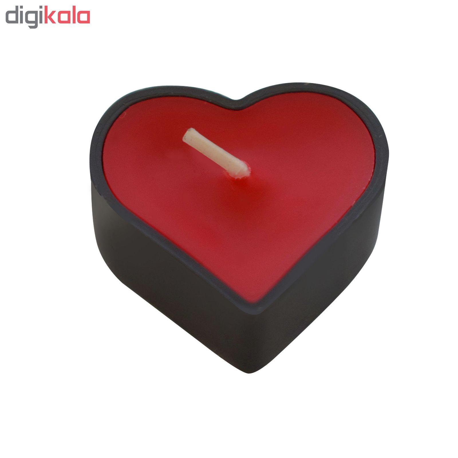 شمع وارمر مدل قلب 001 بسته 6 عددی main 1 2
