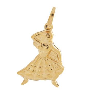 آویز گردنبند طلا 18 عیار گوی گالری مدل G101