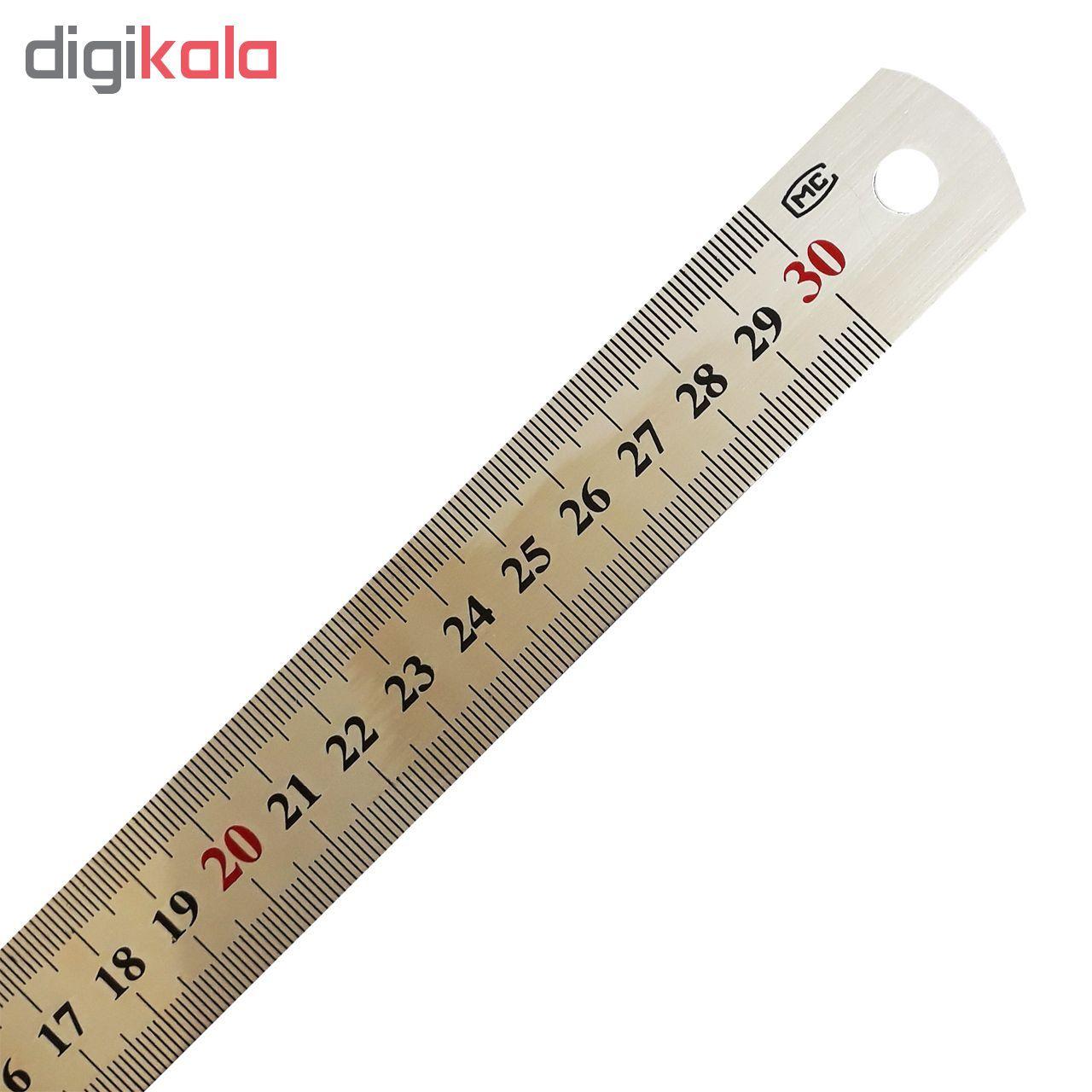 خط کش فلزی ام سی کد 88 سایز 30 سانتی متر main 1 1