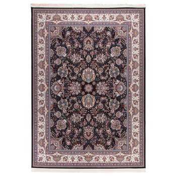 فرش  ماشینی دنیای فرش طرح افشان سورمه ای |
