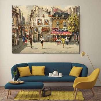 تابلو شاسی گالری استاربوی طرح نقاشی شهر مدل Amazing 754