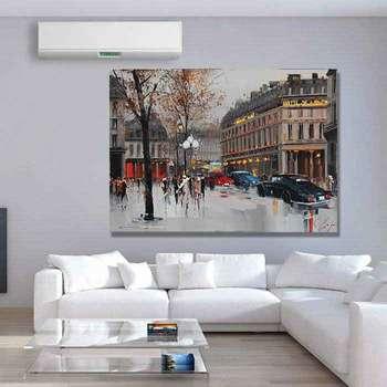 تابلو شاسی گالری استاربوی طرح نقاشی شهر مدل Amazing 755