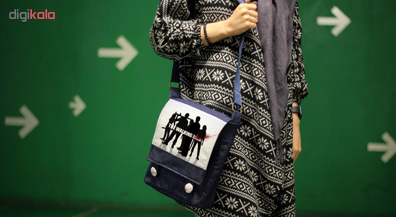 کیف دوشی زنانه گالری چی چاپ طرح سریال مردگان متحرک