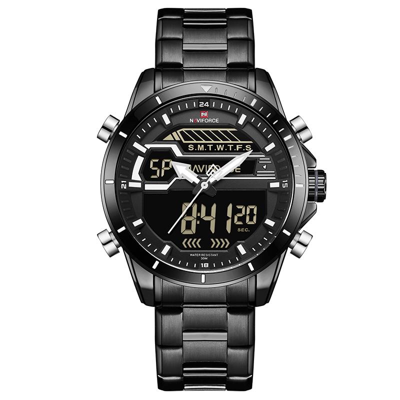ساعت مچی عقربه ای مردانه نیوی فورس مدل NF9133M-BBW