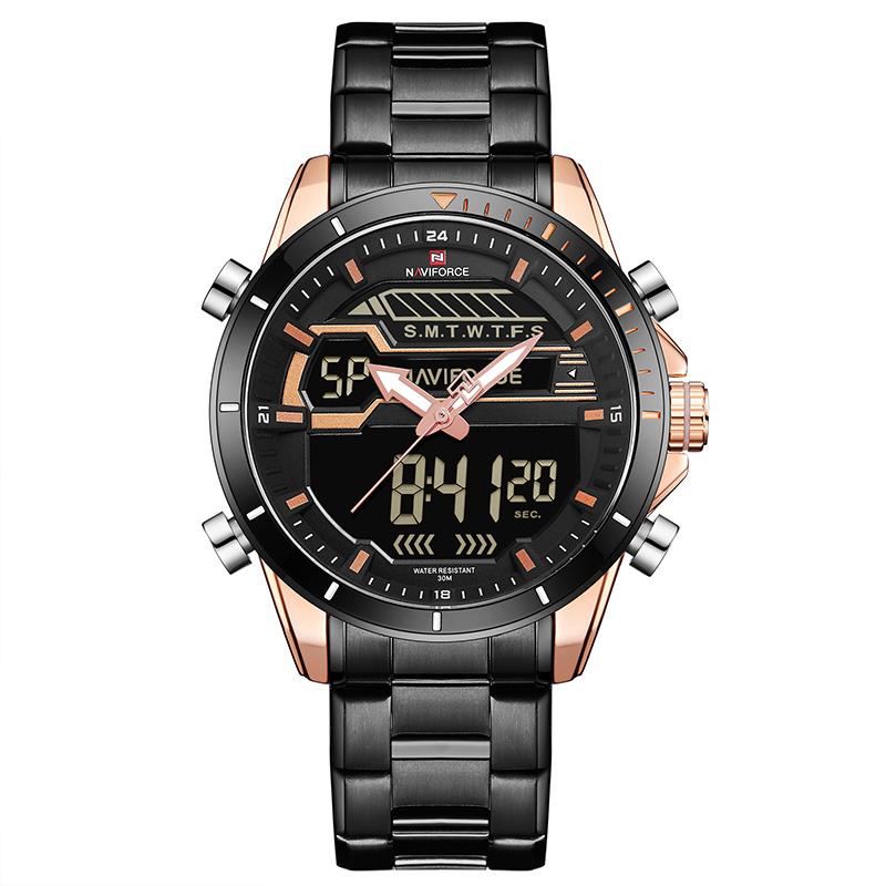 ساعت مچی عقربه ای مردانه نیوی فورس مدل NF9133M/RGRG