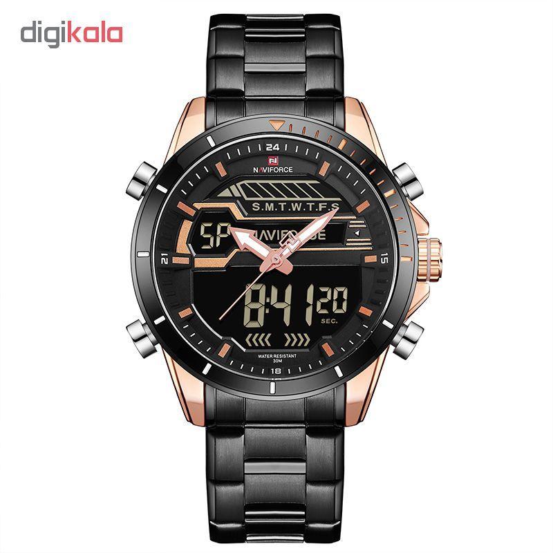 ساعت مچی عقربه ای مردانه نیوی فورس مدل NF9133M/RGRG  Naviforce NF9133M/RGRG Watch For Men
