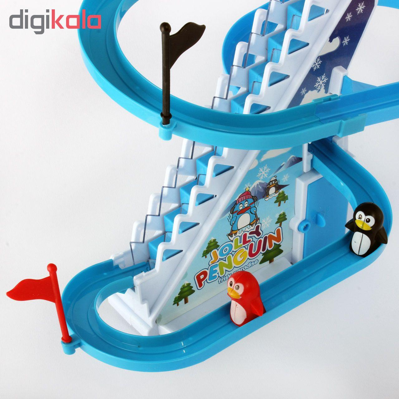 اسباب بازی پله برقی پنگوئن مدل Jolly Penguin