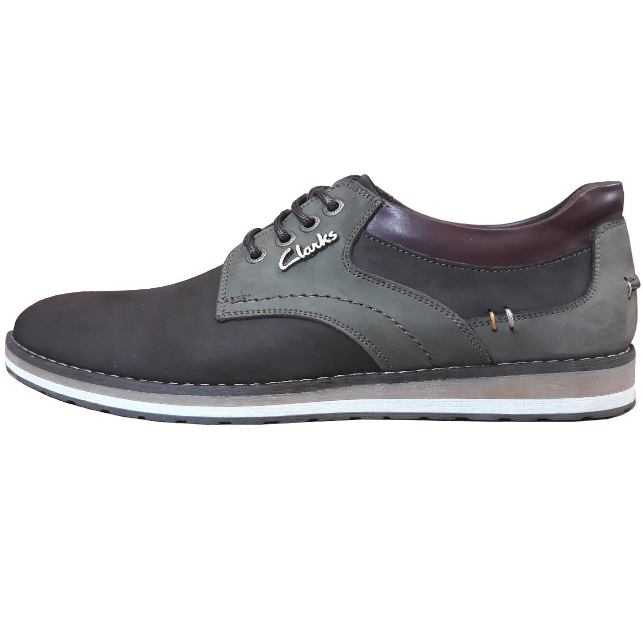 کفش مردانه چرم طبیعی کلارکس مدل هورس کد 310