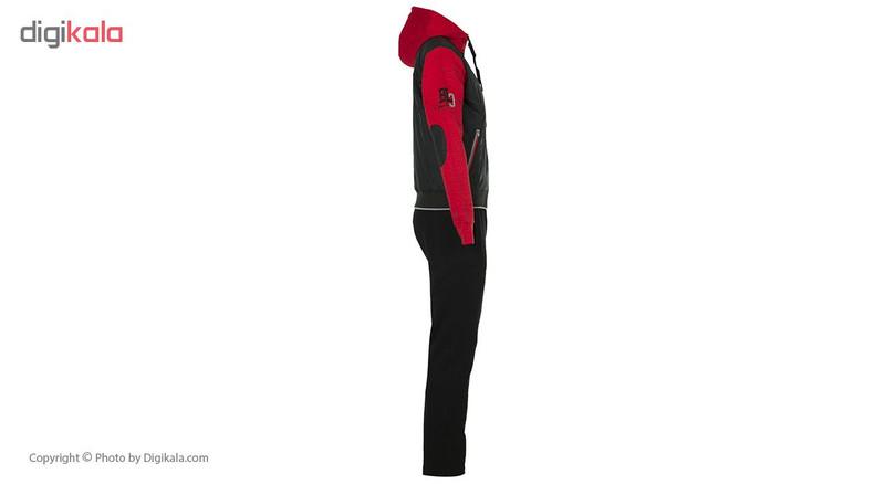 ست هودی و شلوار ورزشی مردانه بیلسی مدل 51M8250-IN-SIYAH-SIYAH-KIRMIZI
