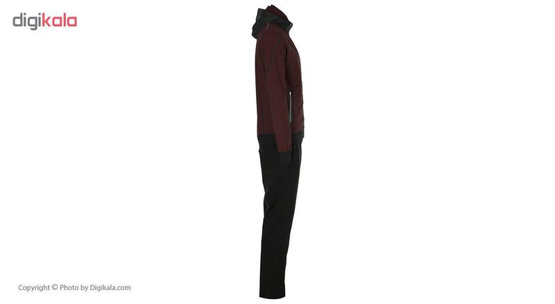 ست هودی و شلوار مردانه بیلسی مدل 61E0113-2IP-SIYAH-BORDOMIX