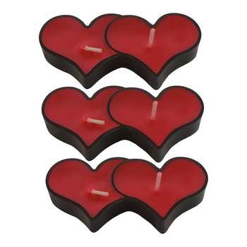 شمع وارمر طرح قلب 003 بسته 3 عددی