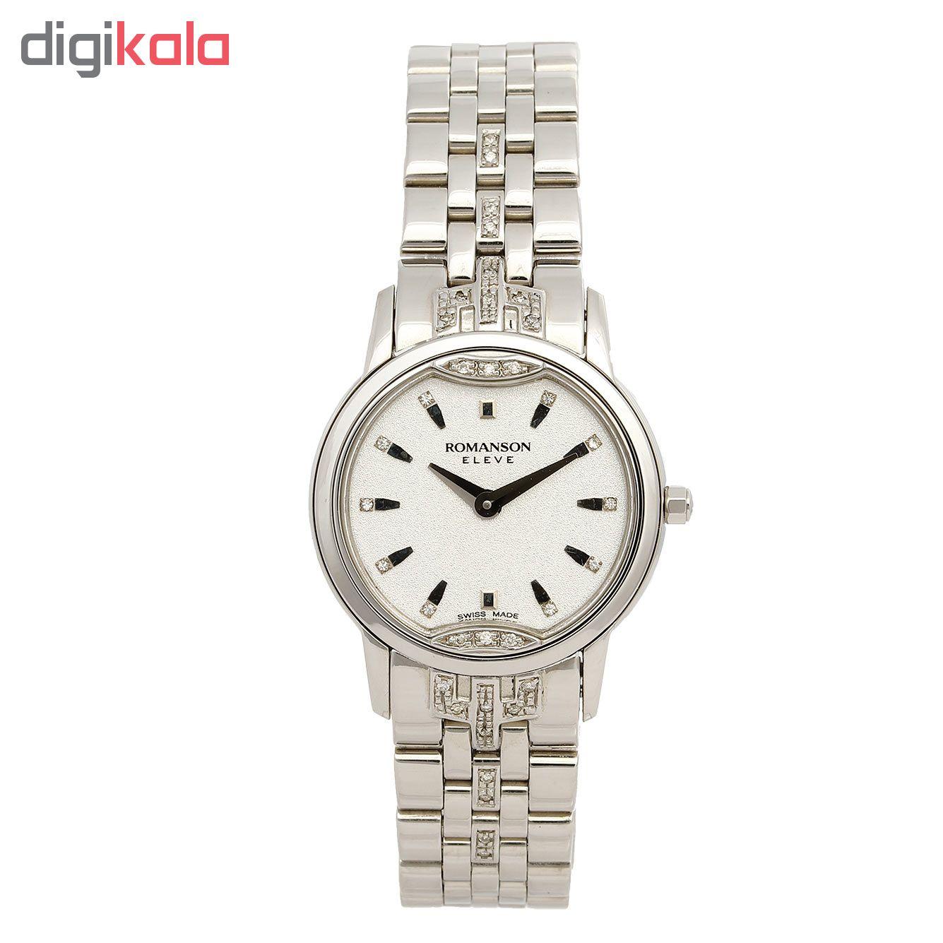 کد تخفیف                                      ساعت مچی عقربه ای زنانه رومانسون مدل EM3210KL1WAS2W