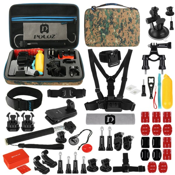 لوازم جانبی پلوز مدل 53in1 مناسب برای دوربین های ورزشی مجموعه 53 عددی