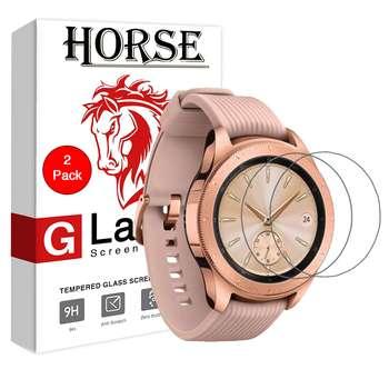 محافظ صفحه نمایش گلس هورس مدل Ultra Clear Crystal مناسب برای ساعت سامسونگ Galaxy Watch 42mm بسته دو عددی