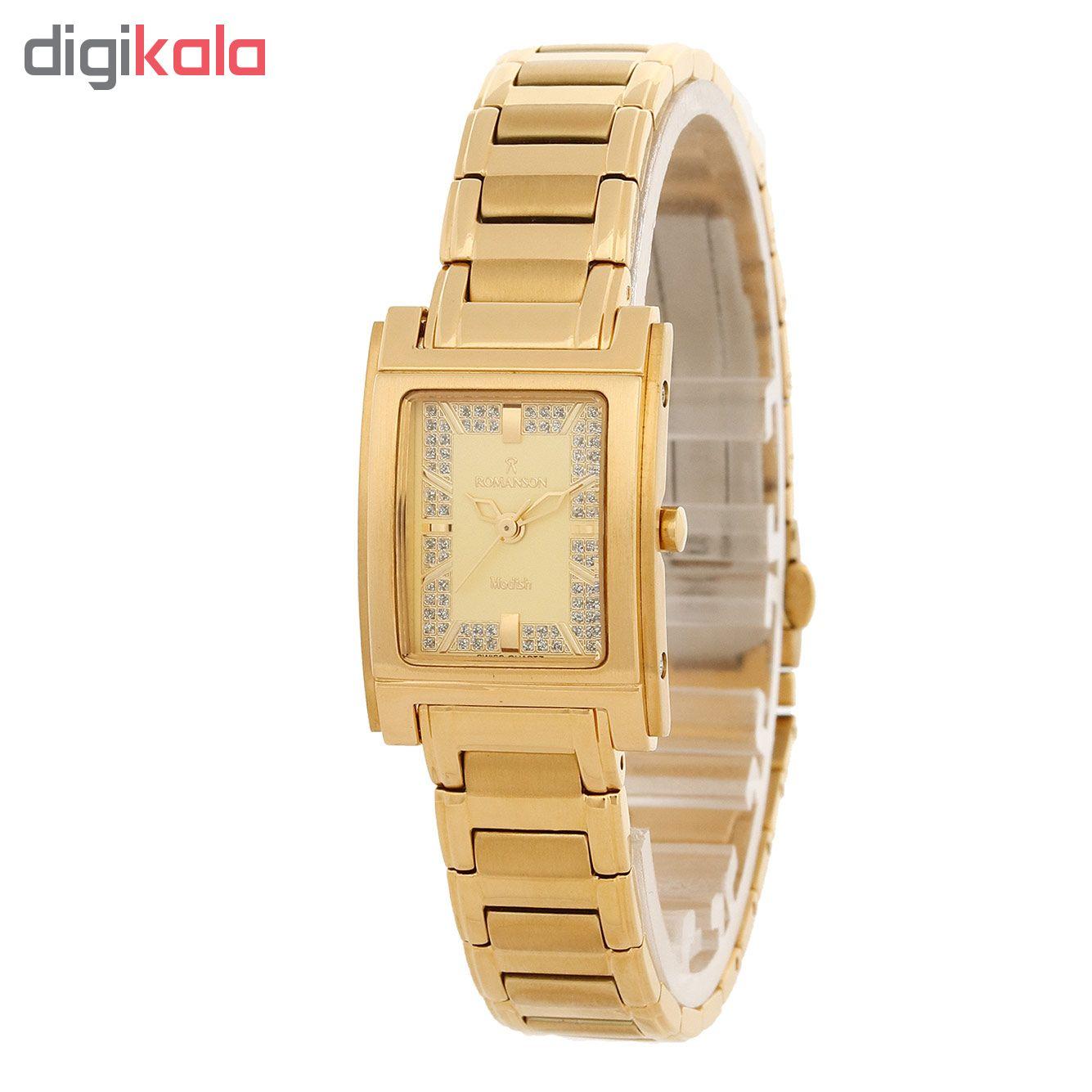 کد تخفیف                                      ساعت مچی عقربه ای زنانه رومانسون مدل DM3110LL1GA81G