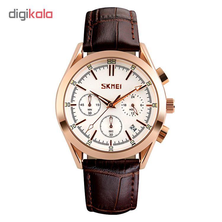 کد تخفیف                                      ساعت مچی عقربه ای مردانه اسکمی مدل S9127/White