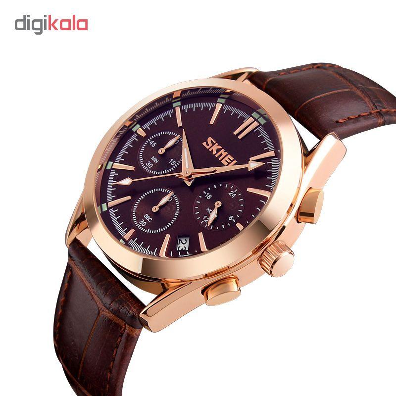 ساعت مچی عقربه ای مردانه اسکمی مدل S9127/Brown              ارزان