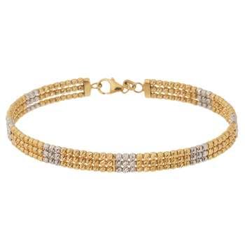 دستبند النگویی طلا 18 عیار گوی گالری مدل G123