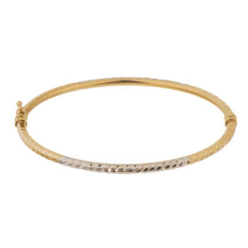 دستبند النگویی طلا 18 عیار گوی گالری مدل G125 | Gooy Gallery G125 Gold Bangle Bracelet