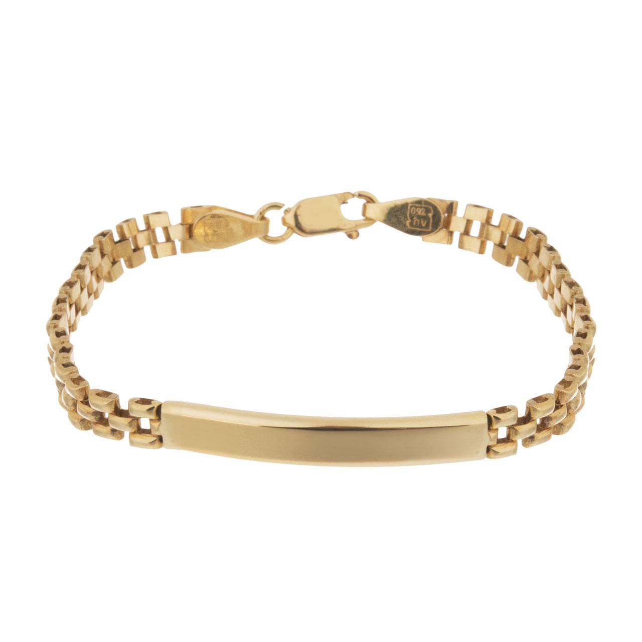 دستبند طلا 18 عیار گوی گالری مدل G109