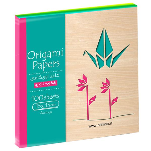 بسته کاغذ اوریگامی اوریمان مدل رنگی تک رو