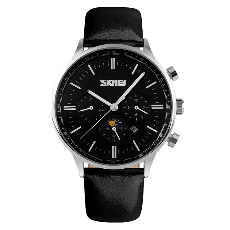 ساعت مچی عقربه ای مردانه اسکمی مدل S9117/BlackSilver