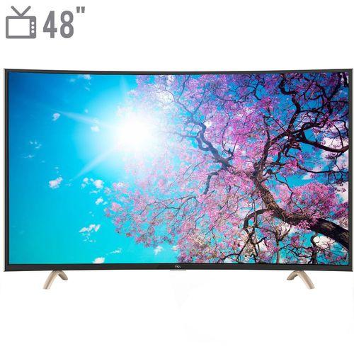 تلویزیون ال ای دی هوشمند خمیده تی سی ال مدل 48P1F سایز 48 اینچ