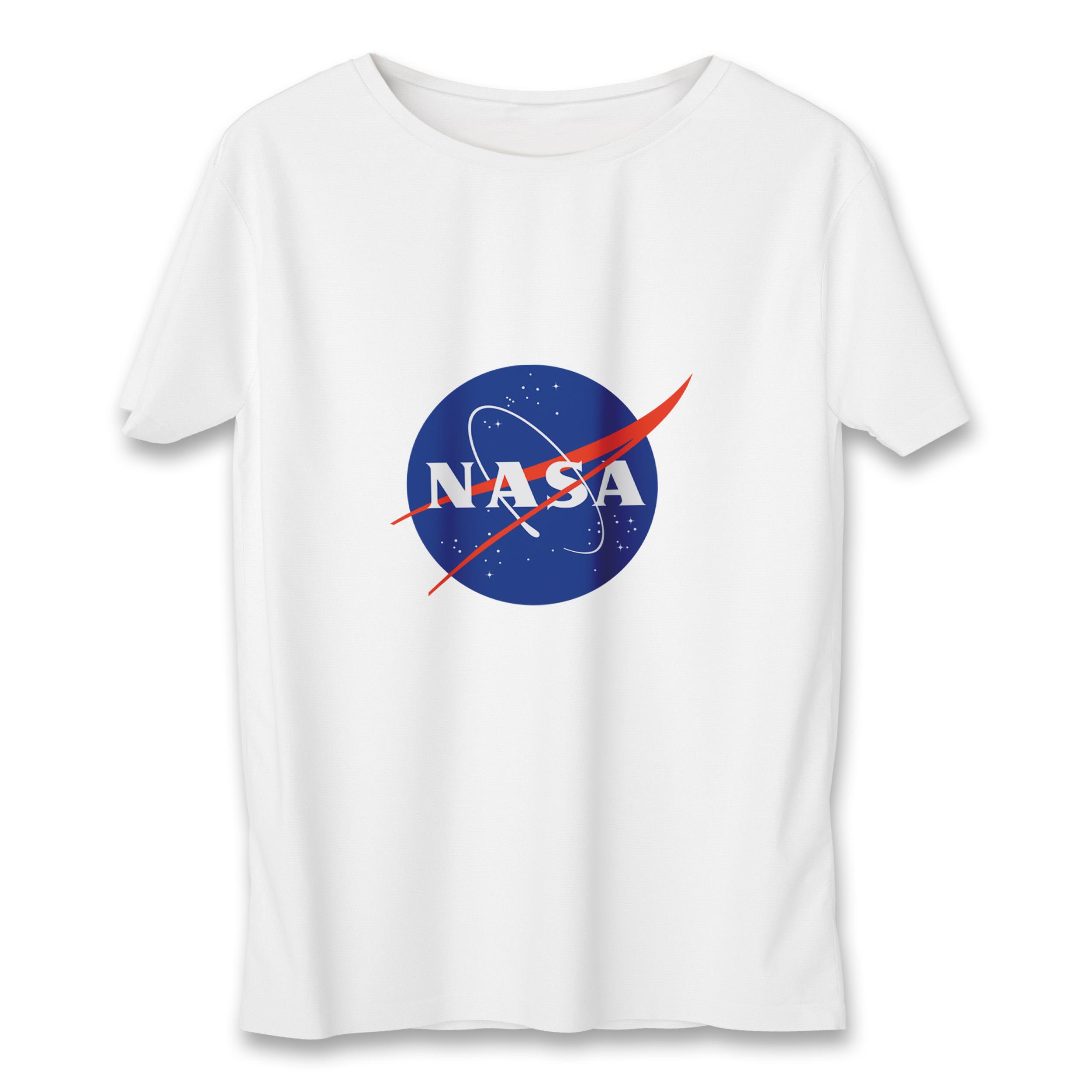 عکس تی شرت مردانه به رسم طرح ناسا کد385