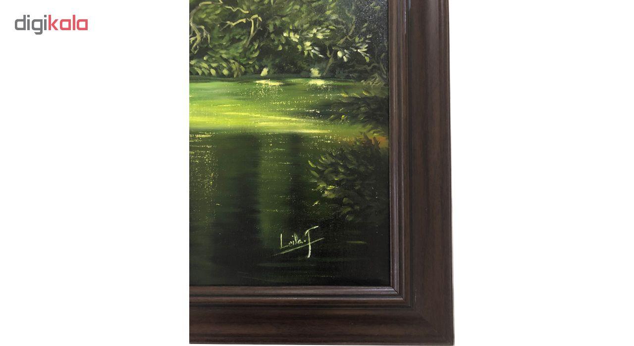 تابلو نقاشی رنگ روغن گالری بارسین طرح منظره جنگل