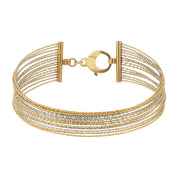 دستبند طلا 18 عیار گوی گالری مدل G124 |