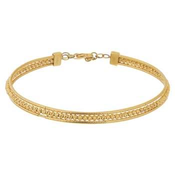دستبند النگویی طلا 18 عیار گوی گالری مدل G122
