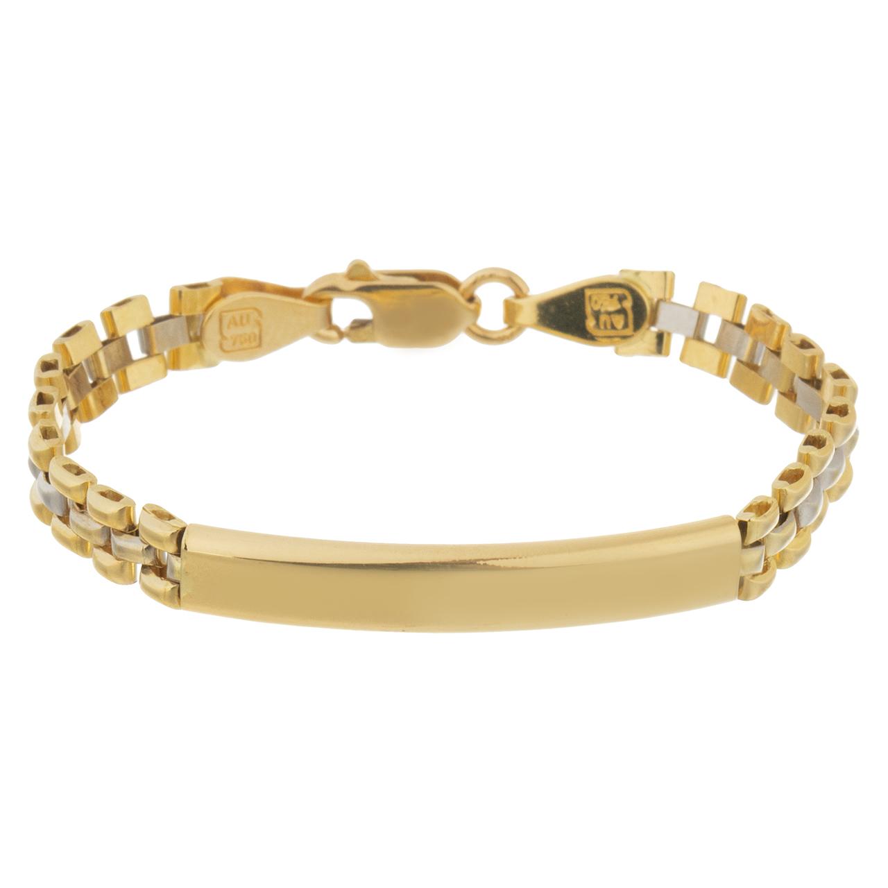 قیمت دستبند طلا 18 عیار گوی گالری مدل G105