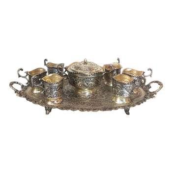 سرویس چایخوری قلمزنی لوح هنر کد 1229
