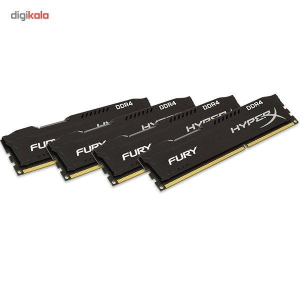 رم کامپیوتر کینگستون مدل HyperX Fury DDR4 2666MHz CL15 ظرفیت 16 گیگابایت main 1 4
