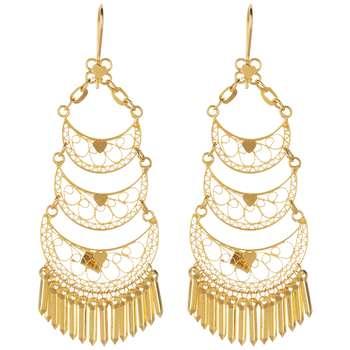 گوشواره طلا 18 عیار گوی گالری مدل G113 | Gooy Gallery G113 Gold Earrings