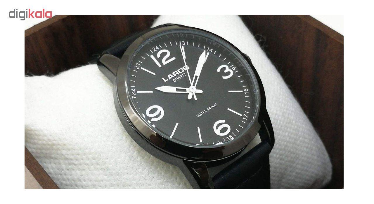 ساعت مچی عقربه ای مردانه لاروس مدل  80153S black