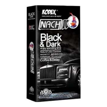 کاندوم ناچ کدکس مدل Black & Dark بسته 12 عددی