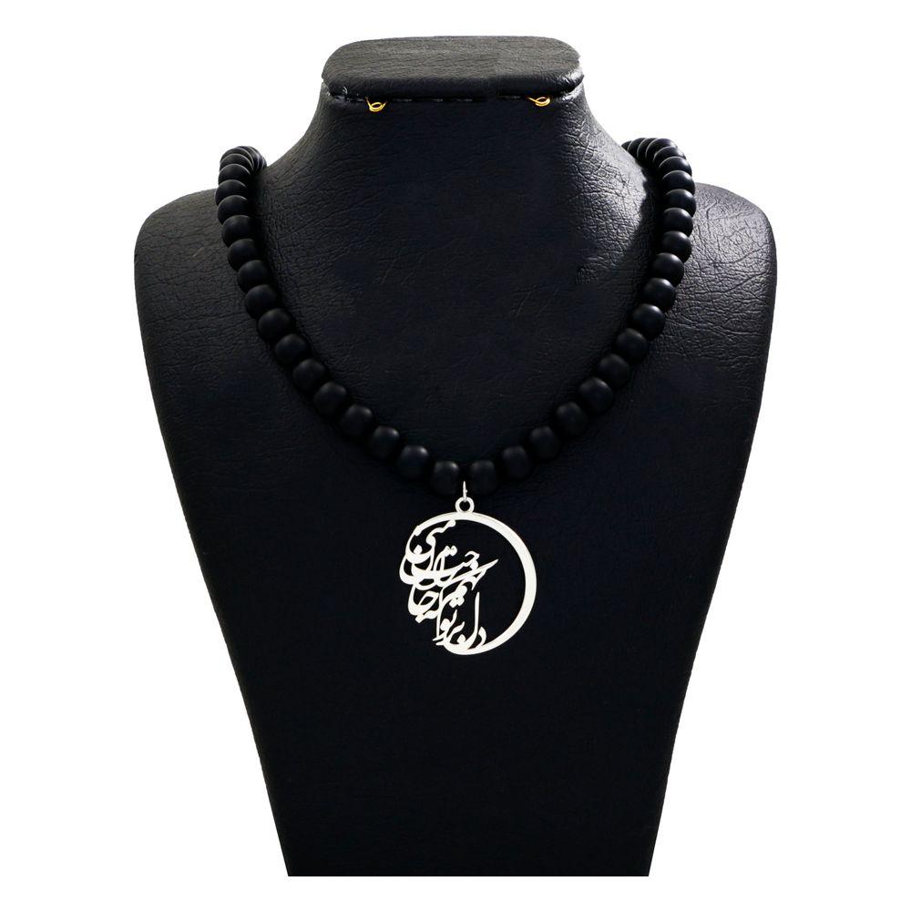گردنبند نقره زنانه دلی جم طرح دل بر تو نهم  کد D 54