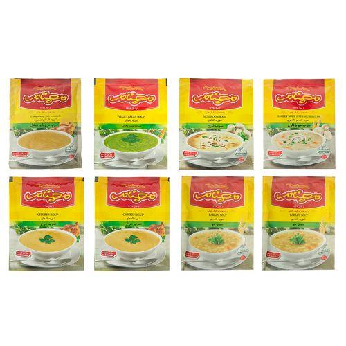 مجموعه هشت عددی سوپ مهنام مقدار 600 گرم